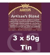 Ashton Artisans Blend Pipe Tobacco 3x50g Tins