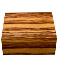 The Highlander Bass Wood Burl Cigar Humidor - 40 Capacity