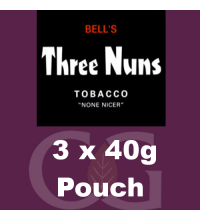 Bells Three Nuns Pipe Tobacco - 3x40g Pouches