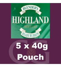 Blenders Highland RR Pipe Tobacco 5x40g Pouches