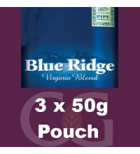 Blue Ridge Pipe Rolling Tobacco - 3x50g Pouches