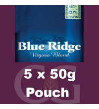 Blue Ridge Pipe Rolling Tobacco - 5x50g Pouches