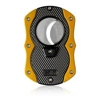 Colibri Monza Cigar Cutter - Matte Black & Anodized Yellow (Discontinued)