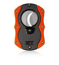 Colibri Monza Cigar Cutter - Matte Black & Anodized Orange (End of Line)