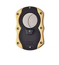 Colibri Monza Cigar Cutter - Black & Gold  (End of Line)