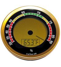 Caliber 4R – Gold Digital Round Thermo-Hygrometer
