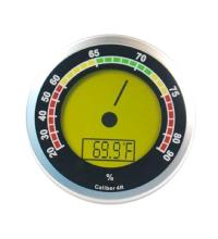 Caliber 4R – Silver Digital Round Thermo-Hygrometer