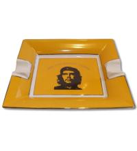 Che Motive Ceramic Cigar Ashtray � Two Cigars Rest - Yellow