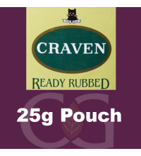 Craven Ready Rubbed Pipe Tobacco 025g Pouch