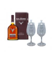 Dalmore 12 Year Old + Two Whisky Glasses Sharing Set Gift Pack