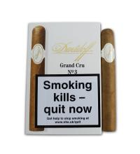 Davidoff Grand Cru No. 3 Cigar - Pack of 5 cigars