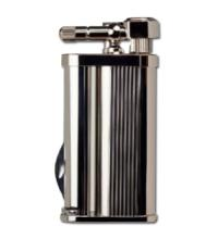Tsubota Pearl - Eddie Pipe Lighter with Tool - Silver Lines