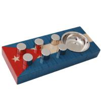 Elie Bleu Egoist Cigar Ashtray - Cuba Flag