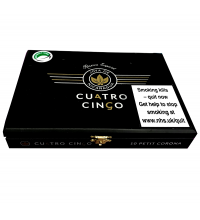Empty Cuatro Cinco Petit Corona Cigar Box