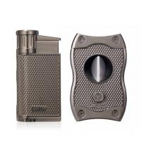 Colibri Evo Single Jet Lighter & SV Cutter Set - Gunmetal