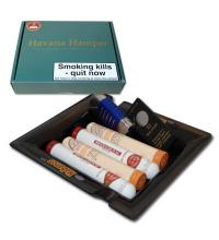 Habanos Havana Hamper - 4 cigars and Ashtray - Great Gift