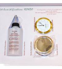 Credo Rondo Humidification Set - Gold - up to 40 Cigar Capacity