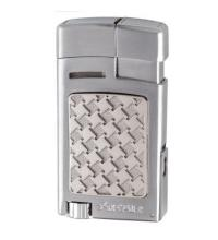 Xikar Forte Soft Flame Lighter with Punch Cutter - Silver Houndstooth