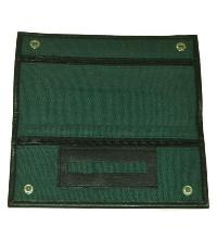 Green Canvas Wallet With Rubber Lining And Paper Holder