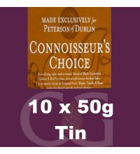 Peterson Connoisseurs Choice Pipe Tobacco 10x50g Tins