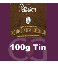 Peterson Founders Choice Cube Cut Pipe Tobacco  - 100g Tin