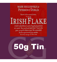 Peterson Irish Flake Pipe Tobacco 50g Tin