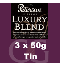 Peterson Luxury Blend Pipe Tobacco - 150g (3 x 50g Tins)