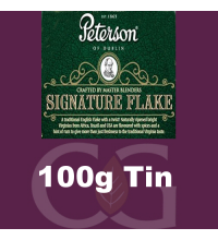 Peterson Signature Flake Pipe Tobacco - 100g Tin