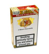Romeo y Julieta Short Churchill Tubed Cigar - Pack of 3