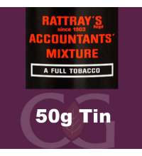 Rattrays Accountants Mixture Pipe Tobacco 50g Tin