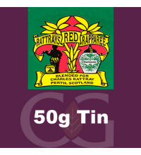 Rattrays Red Rapparee Pipe Tobacco 50g Tin