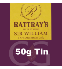 Rattrays Sir William Pipe Tobacco 50g Tin