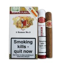 Romeo y Julieta No. 3 Tubed Cigar - Pack of 3