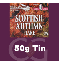 Samuel Gawith Seasons Scottish Autumn Flake Pipe Tobacco 50g Tin