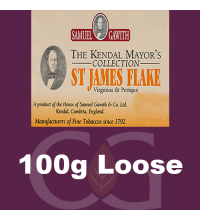 Samuel Gawith Mayors St James Flake Pipe Tobacco - 100g Loose