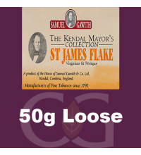 Samuel Gawith Mayors St James Flake Pipe Tobacco - 50g Loose