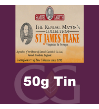 Samuel Gawith Mayors St James Flake Pipe Tobacco - 50g Tin