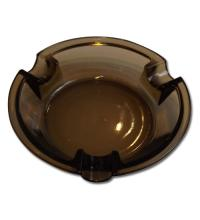 Smokey Glass Cigar Ashtray - Round