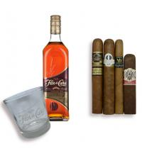 Exclusive - Great Value Nicaraguan Cigar and Flor de Cana Rum Pairing Set