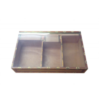 Unbranded (wrapper) - Empty Clear Lid Cigar Box