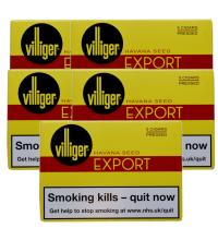 Villiger Export Pressed Cigar - 5 Packs of 5 (25)