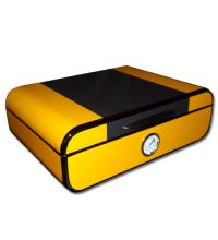 Angelo Yellow and Carbon Fibre Look Humidor � 30 Cigar Capacity