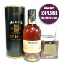 Aberlour 16 Year Old Whisky & Free Aberlour Whisky Glass - 70cl 43%