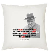 Churchill Love Quote - Cigar Themed Cushion