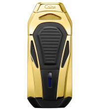 Colibri Boss Triple Flame Lighter - Polished Gold (End of Line)