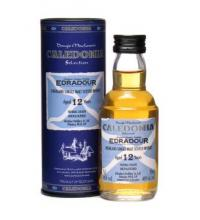 Edradour 12 Year Old Caledonia Single Malt Scotch Whisky Miniature - 5cl 46%