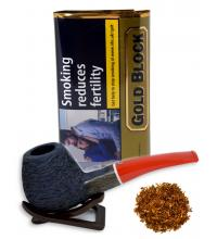Gold Block Pipe Tobacco 40g Pouch