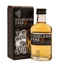 Highland Park 12 Year Old Viking Honour Single Malt Whisky Miniature -  5cl 40%
