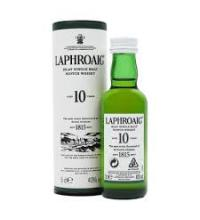Laphroaig 10 Year Old Single Malt Scotch Whisky Miniature - 5cl 40%