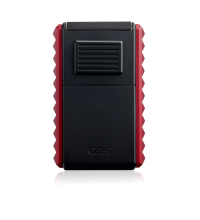 Colibri Quasar Astoria Triple Jet Flame Lighter - Red and Black